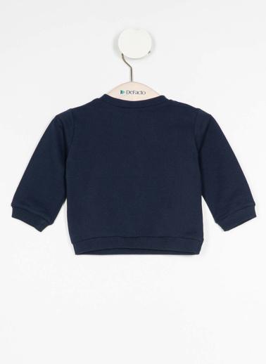 DeFacto Kız Bebek Baskılı Sweatshirt Mavi